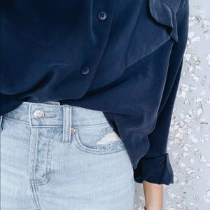 Tops - Vintage Navy Button Down